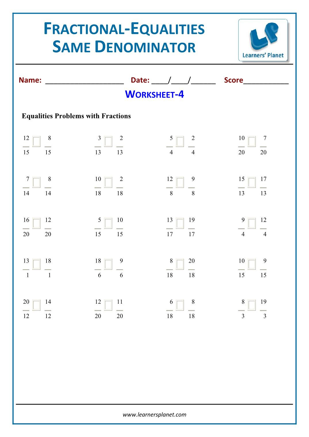 Equivalent Fractions Worksheets 5th Grade Equivalent Fractions Worksheets for 5th Grade