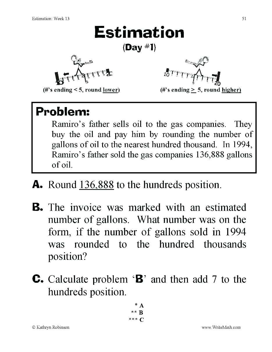 Estimating Word Problems 3rd Grade Rounding Word Problems 3rd Grade Math Worksheets Addition