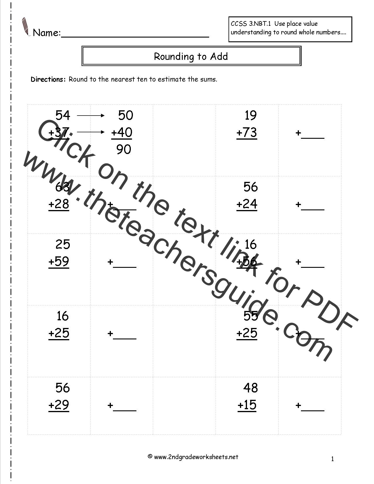 Estimation Maths Worksheets Math Rounding & Estimating Lessons Tes Teach