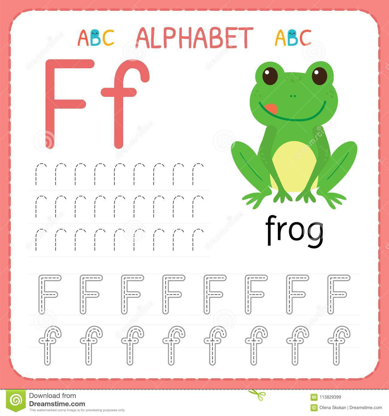 F Worksheets for Preschool Alphabet Tracing Worksheet for Preschool and Kindergarten