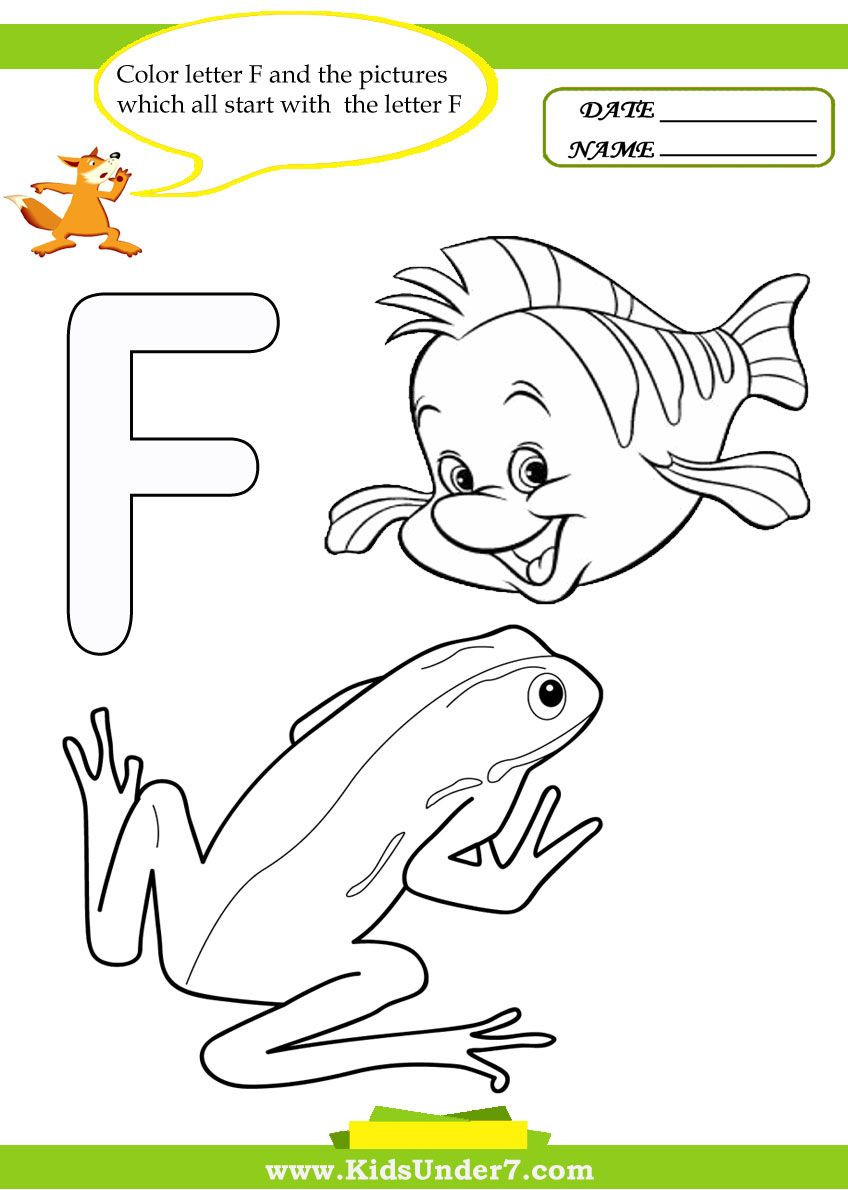F Worksheets for Preschool Letter F Worksheets and Coloring Pages