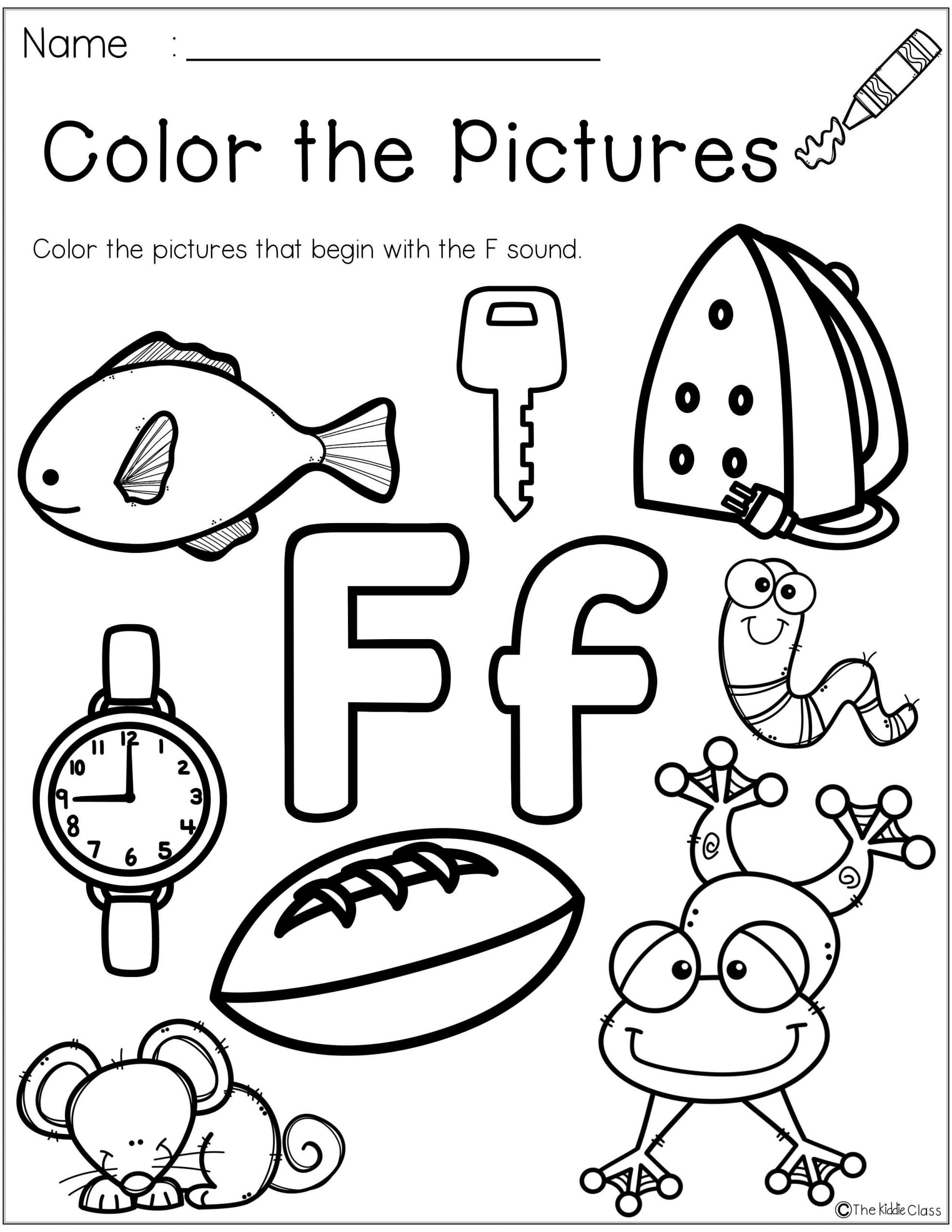 F Worksheets for Preschool Letter Of the Week F is Perfect for the Beginning Of the