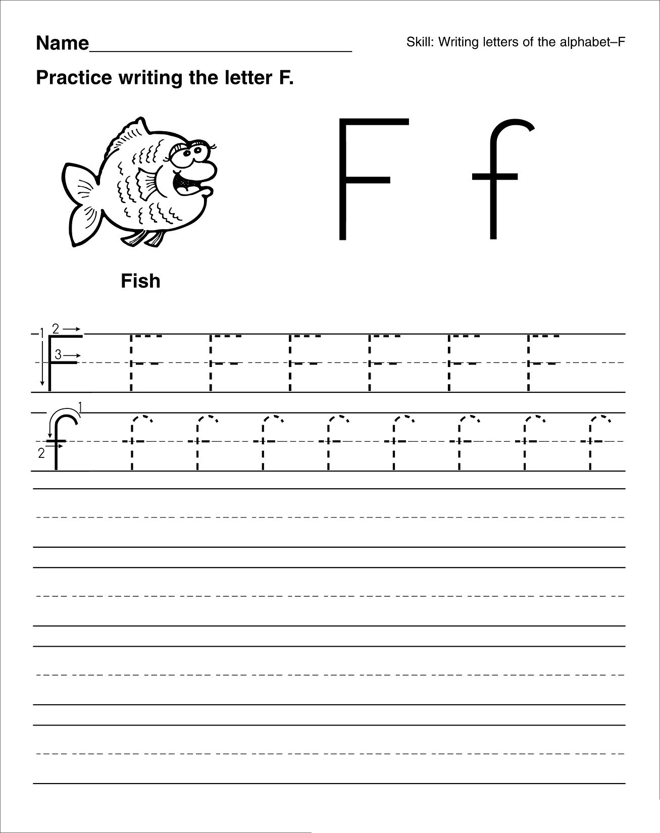 F Worksheets for Preschool Math Worksheet Printing Letters Worksheets Tracing Name