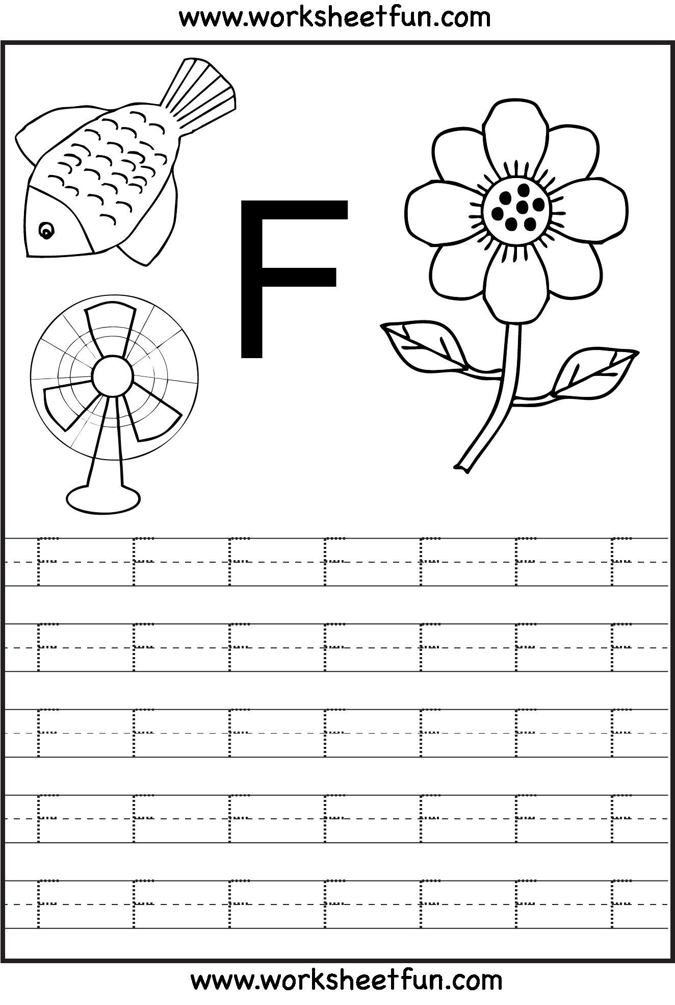 F Worksheets for Preschool Pin On Education