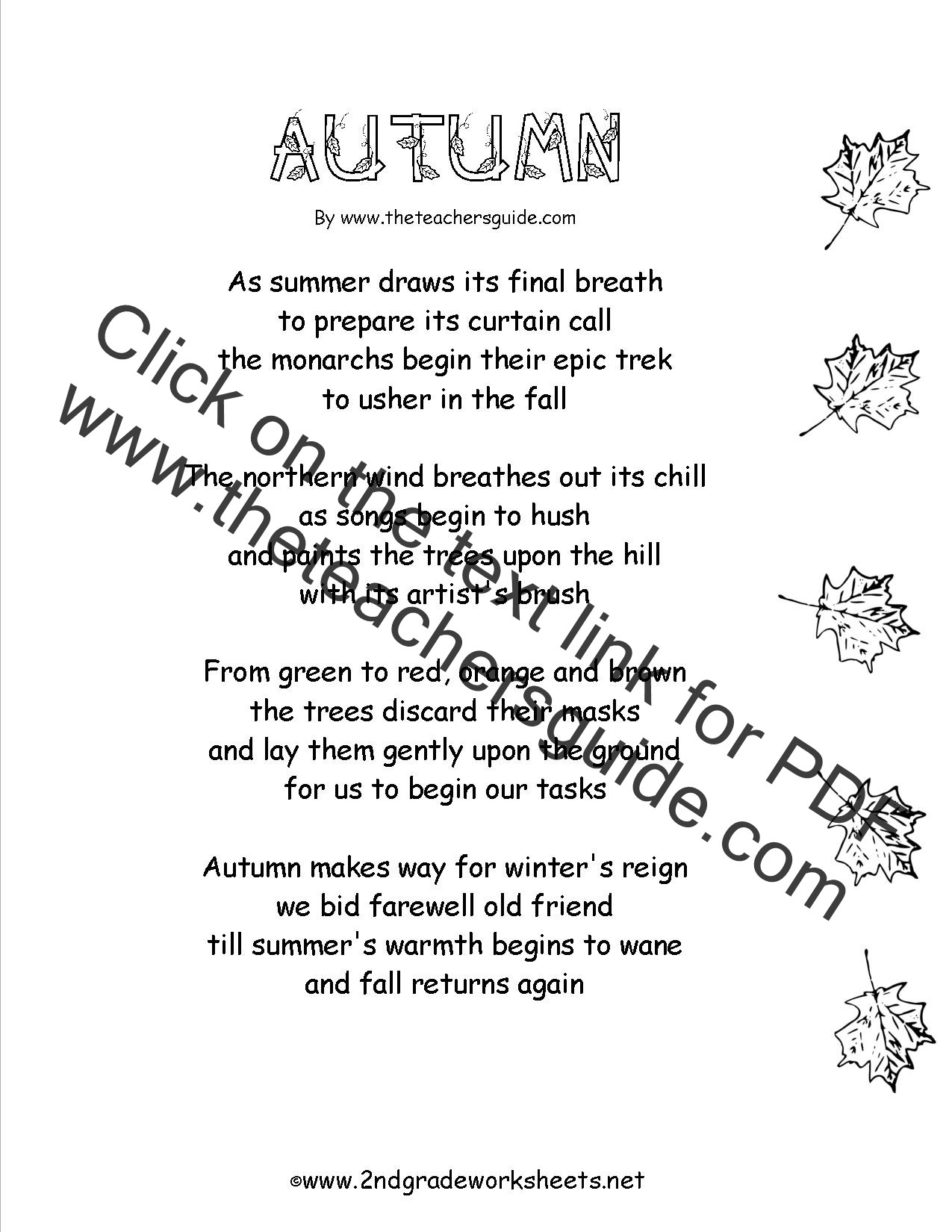Fall Math Worksheets 2nd Grade Autumn theme Worksheets and Printouts