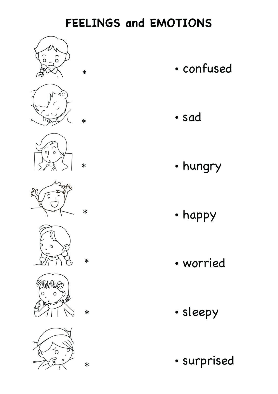 Feelings Worksheets for Preschoolers Pin On Printable Worksheet for Kindergarten