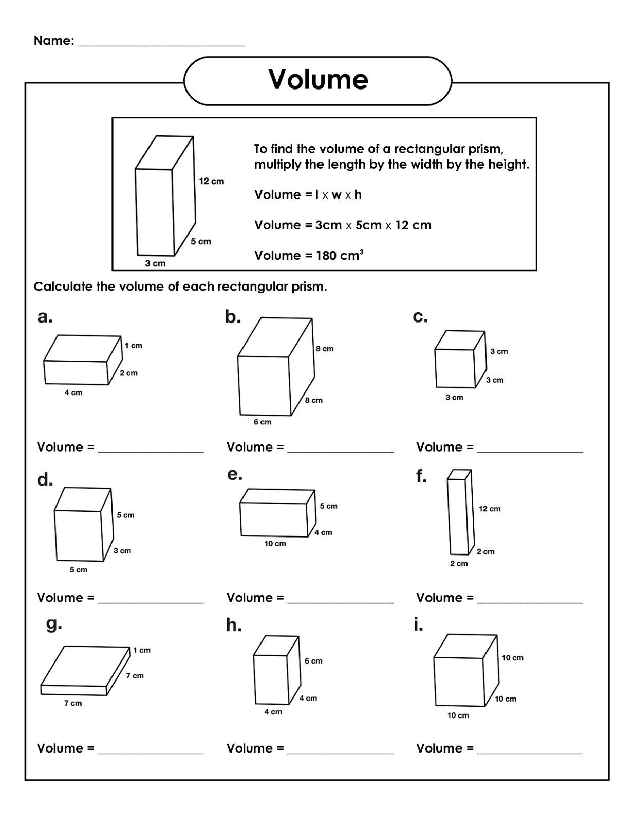Fifth Grade Measurement Worksheets 5th Grade Math Worksheets
