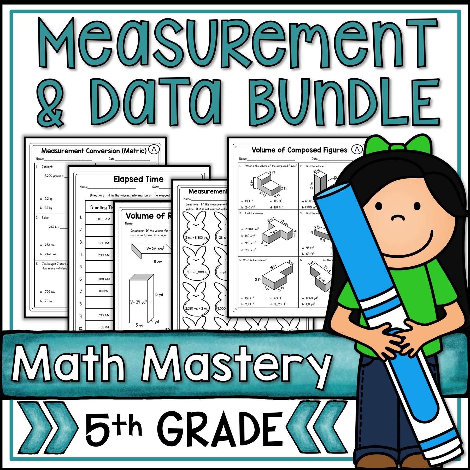 Fifth Grade Measurement Worksheets 5th Grade Measurement & Data Worksheets