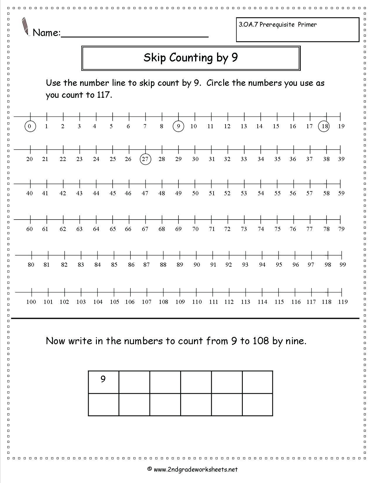First Grade Skip Counting Worksheets 6th Grade Skip Counting Worksheet
