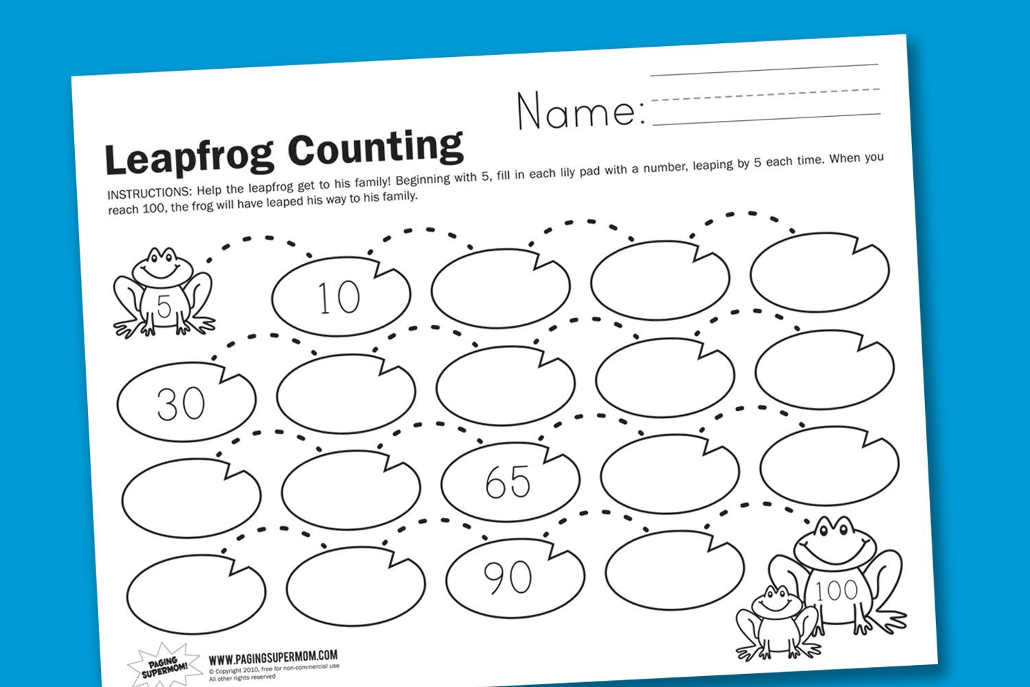 First Grade Skip Counting Worksheets Leapfrog Counting