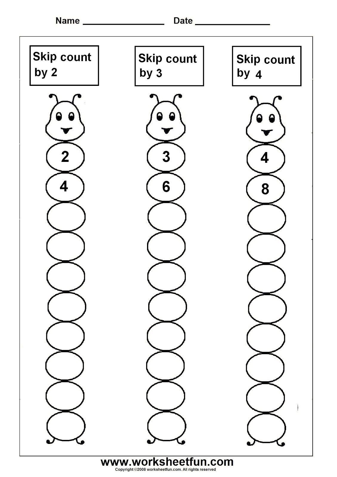 First Grade Skip Counting Worksheets Skip Counting
