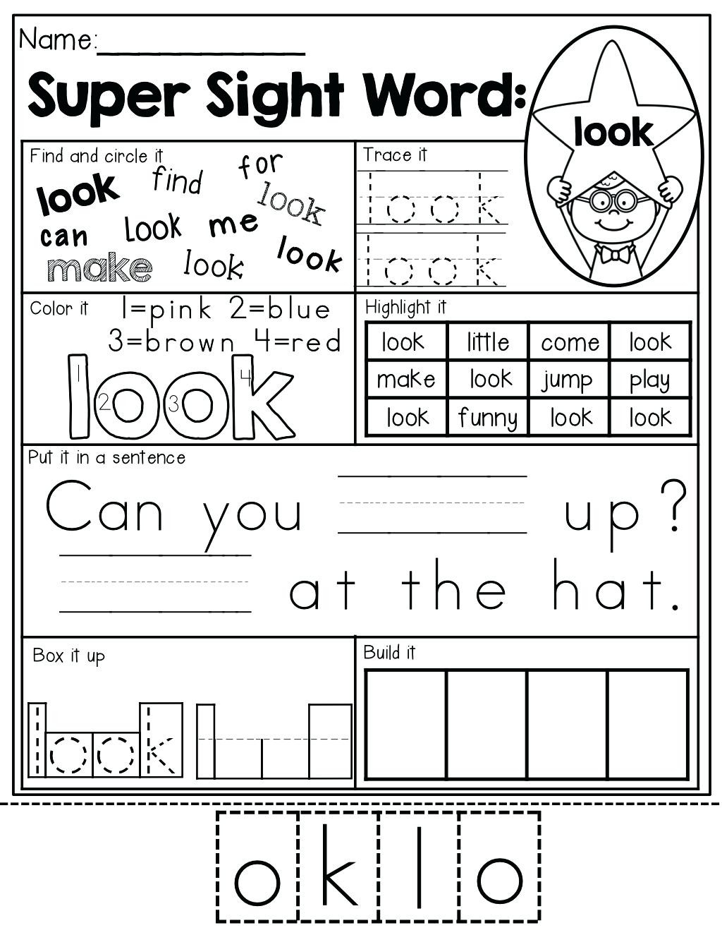 First Grade Vocabulary Worksheets 1st Grade Worksheet Sight Words for Free First Worksheets