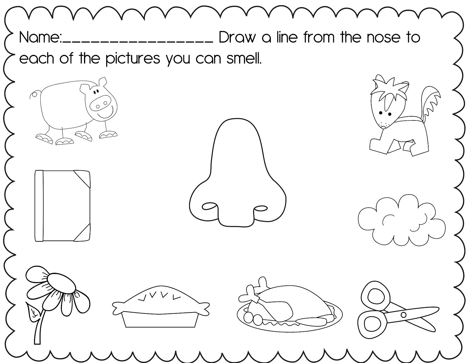 Five Senses Worksheets Preschool Five Sense Worksheet New 692 Five Senses Worksheets for Pre K