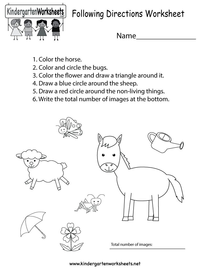 "Following Directions Printables Kindergarten Wsheets On Twitter ""this Free Kindergarten"