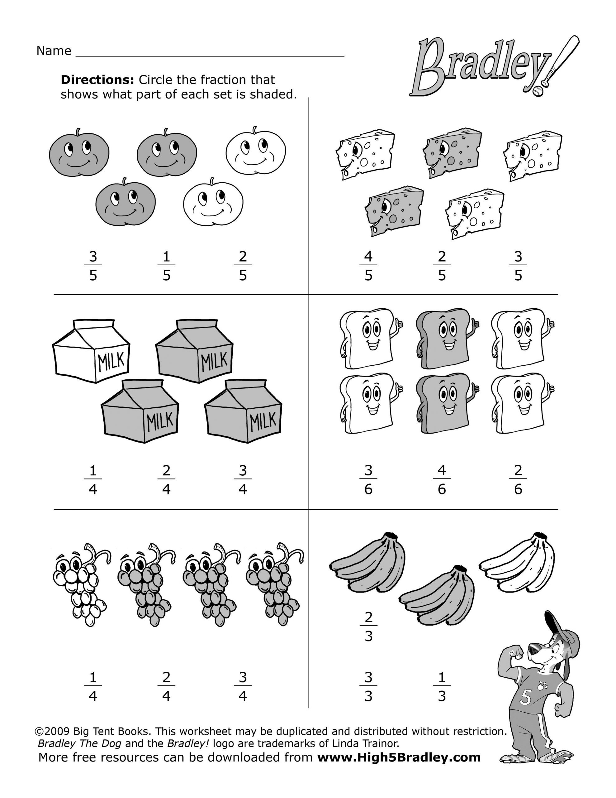 Fractions Worksheets 2nd Grade 2nd Grade Math Food Fractions1 2 550—3 300 Pixels