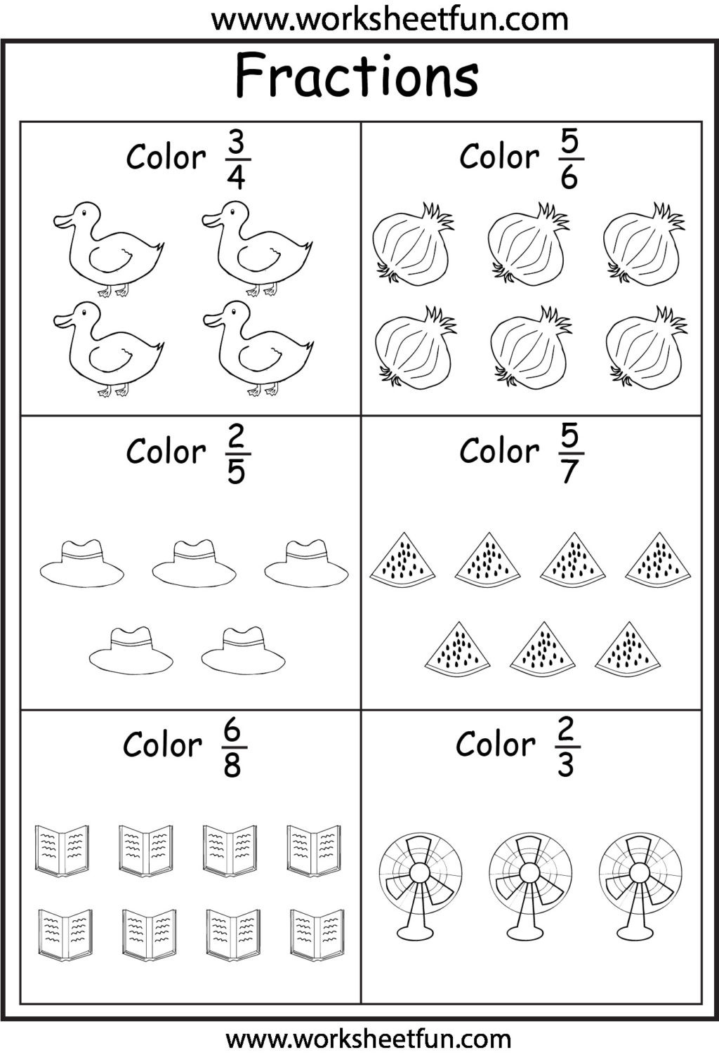Fractions Worksheets 2nd Grade Worksheet Second Gradetions Worksheets Worksheet Free Math
