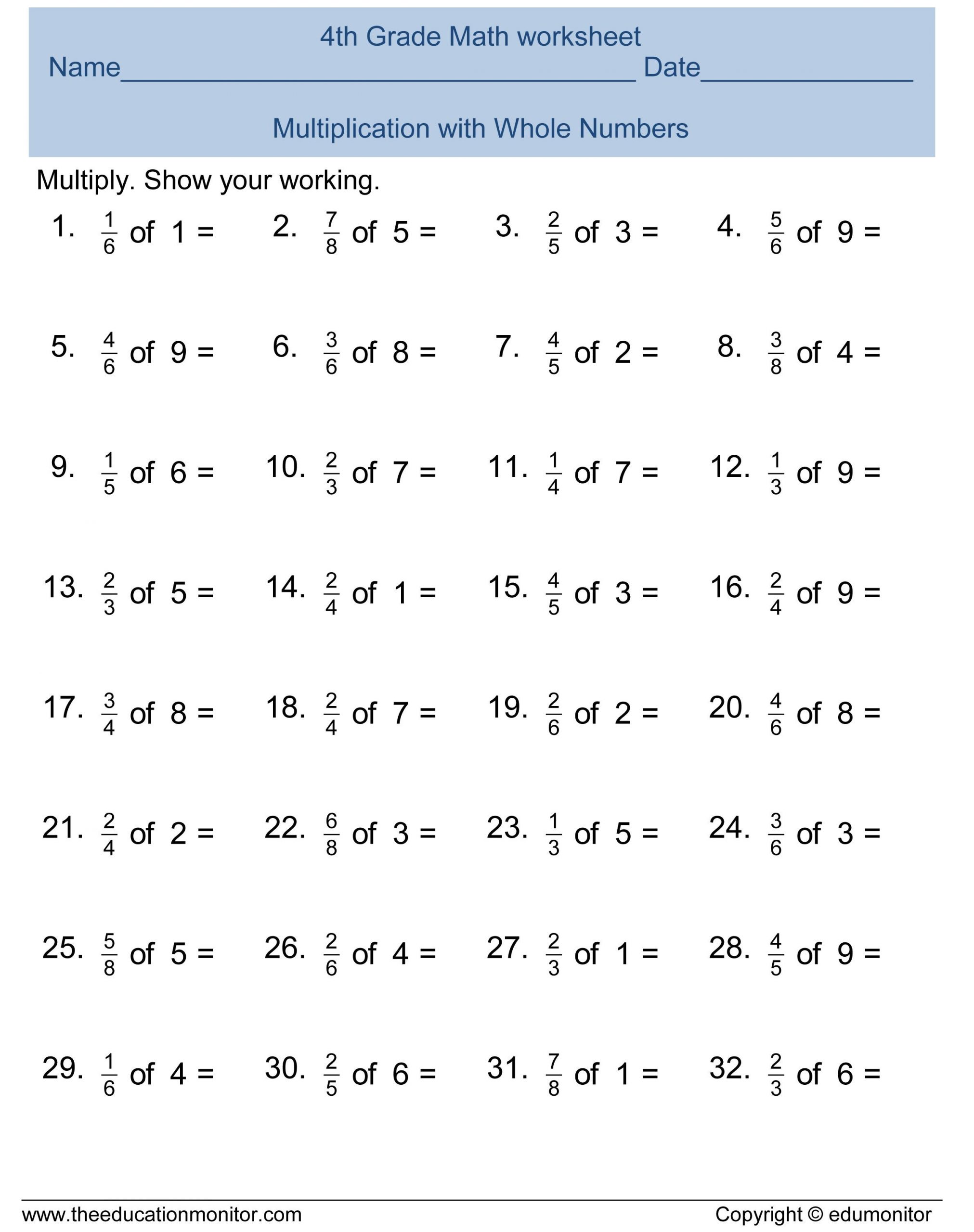 Fractions Worksheets Grade 4 Pdf Best Worksheets for Kids