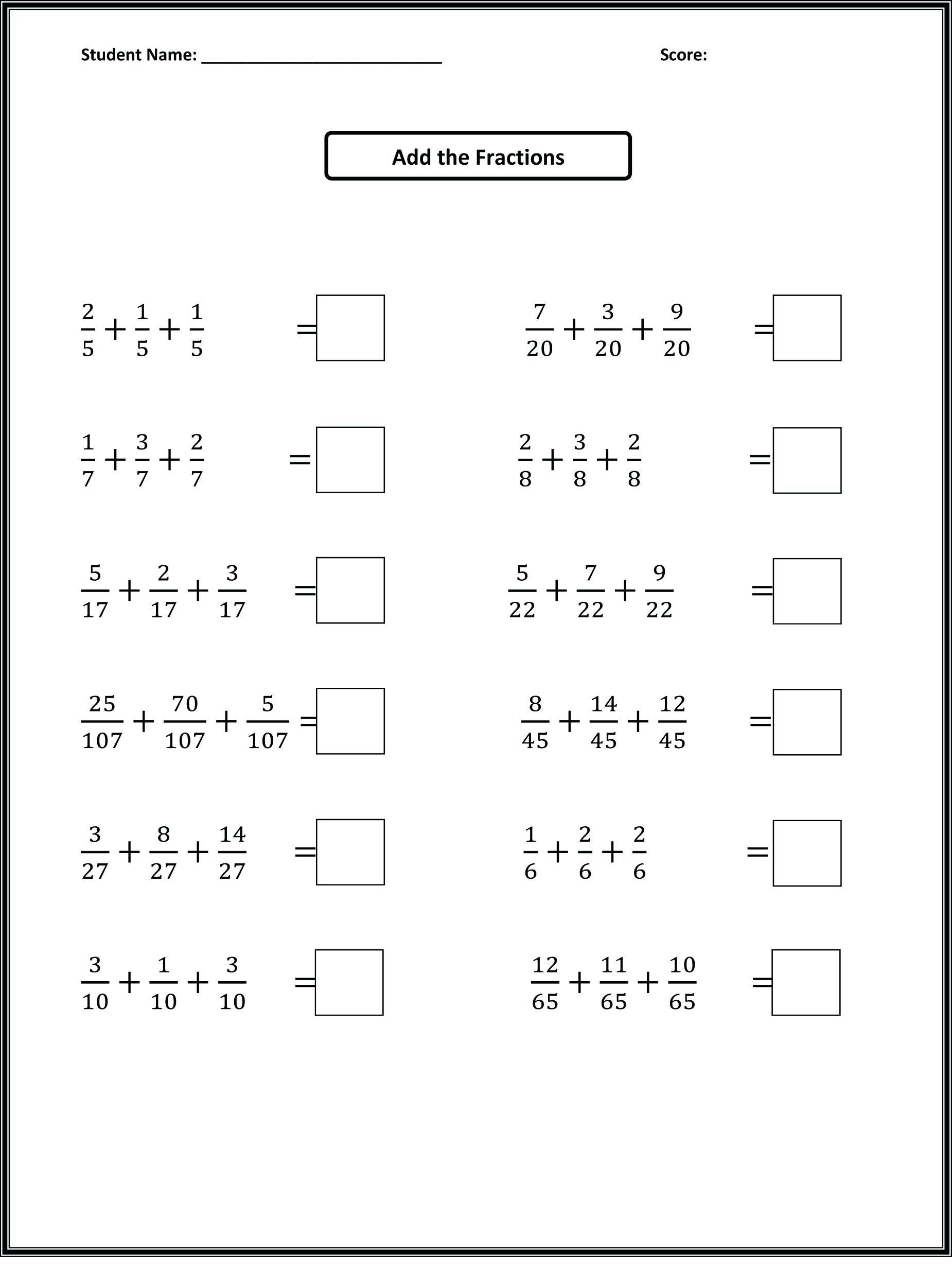 Fractions Worksheets Grade 4 Pdf Maths Worksheets for Grade Cbse Practice Class Pdfth Word