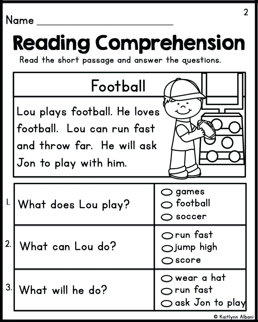 Free 1st Grade Comprehension Worksheets Math Worksheet Reading Prehension Practice 1st Grade
