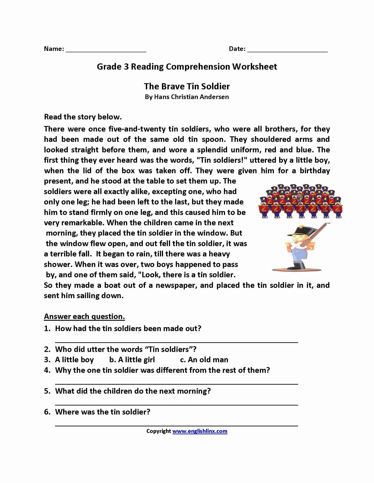 Free 2nd Grade Comprehension Worksheets Math Worksheet 52 Tremendous Free Second Grade Reading