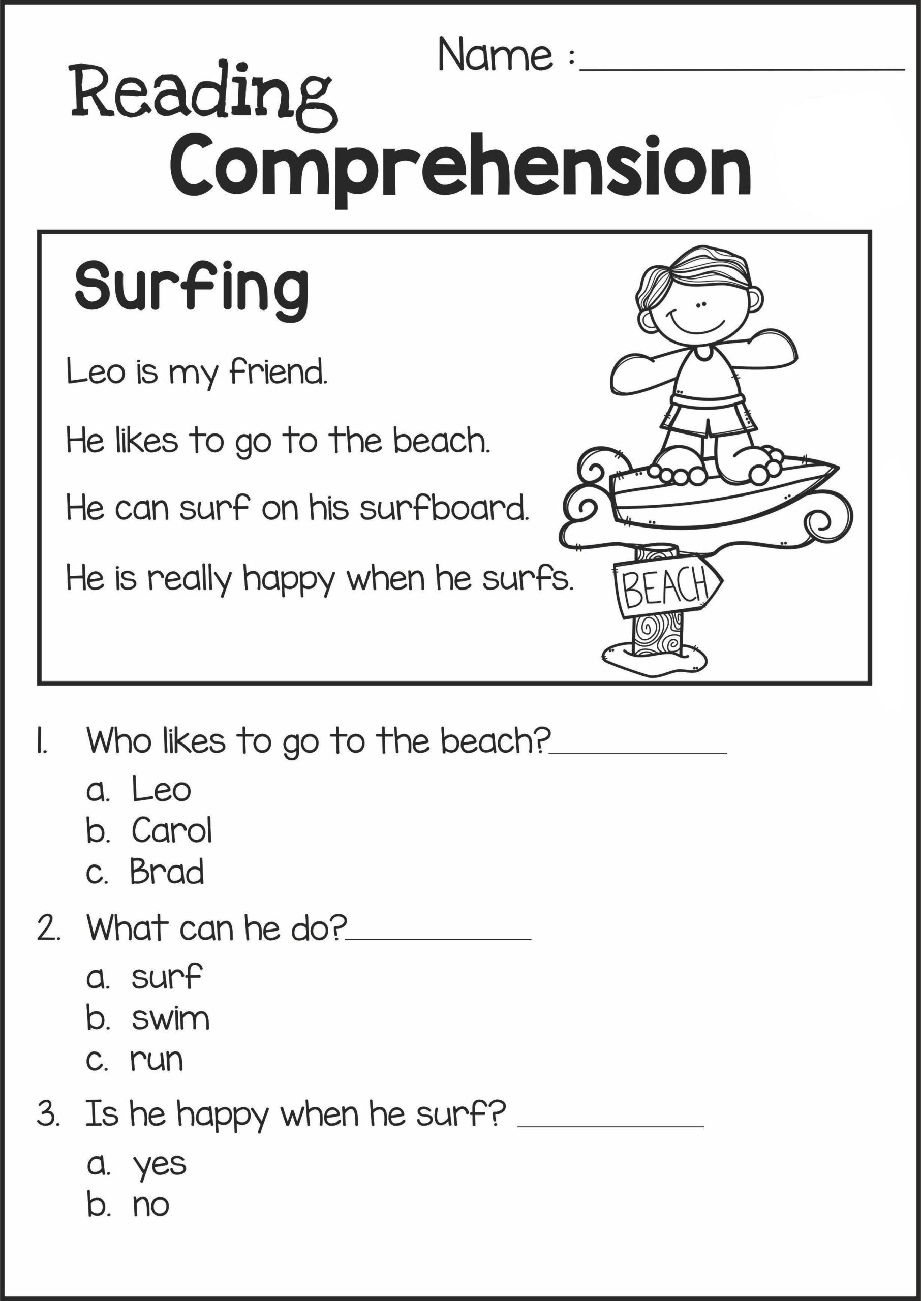 Free 2nd Grade Comprehension Worksheets Math Worksheet Remarkabled Grade Reading Prehension