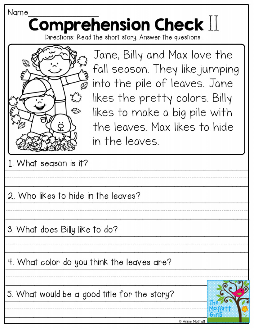 Free 2nd Grade Comprehension Worksheets Worksheet 2nd Gradeiteracy Worksheets Ideas Ks2 Pdf