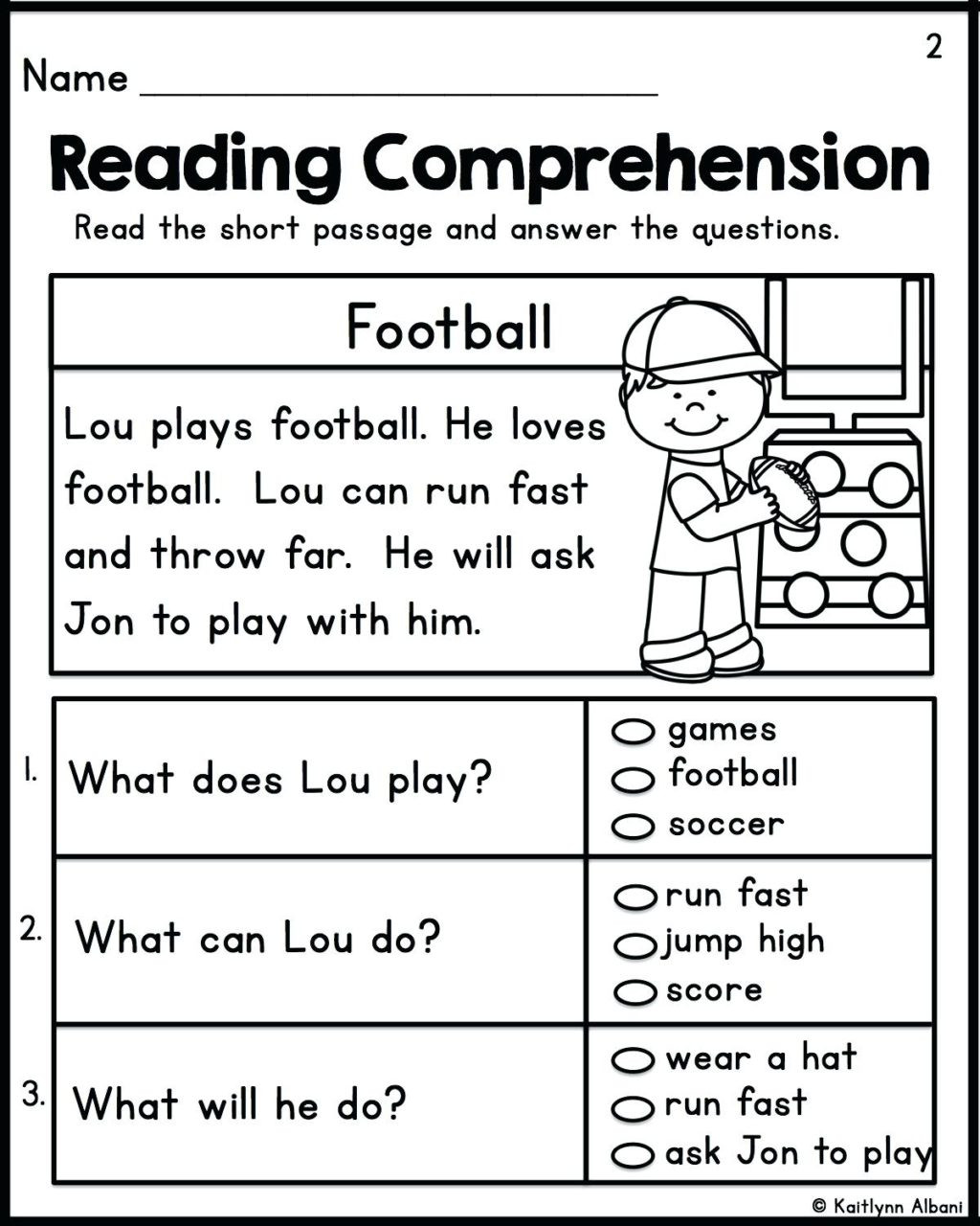 Free 2nd Grade Comprehension Worksheets Worksheet Worksheet Ideas Excelent Free Second Grade