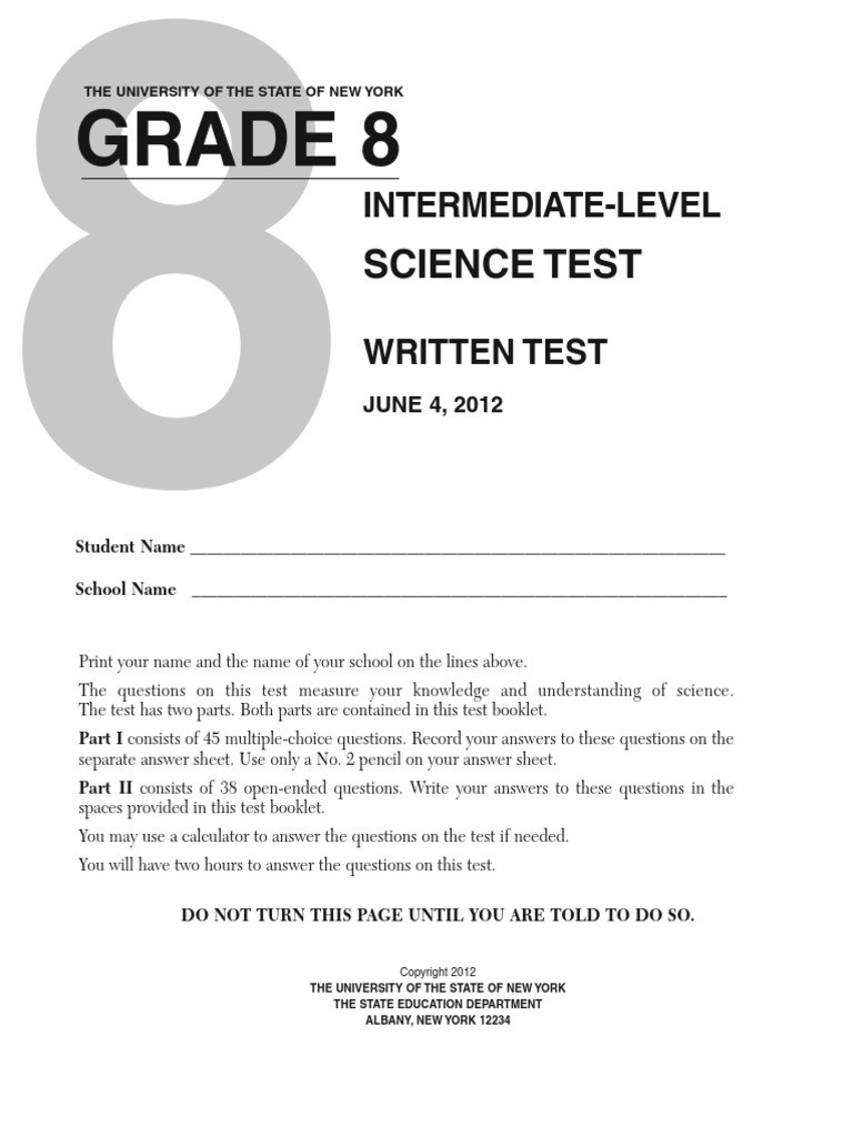 Free 8th Grade Science Worksheets 8th Grade Science Test Chemical Elements
