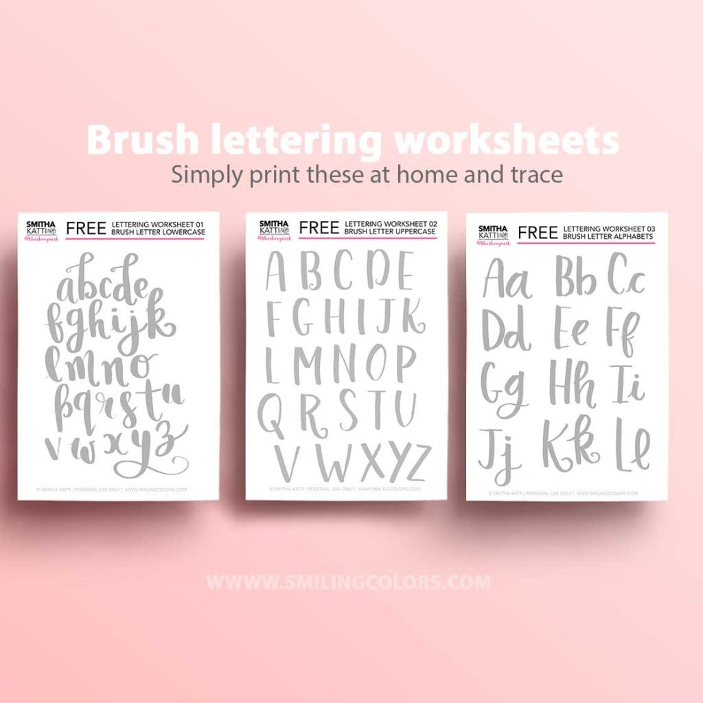 Free Calligraphy Worksheets Printable Worksheet Brush Lettering Worksheets Free Printable