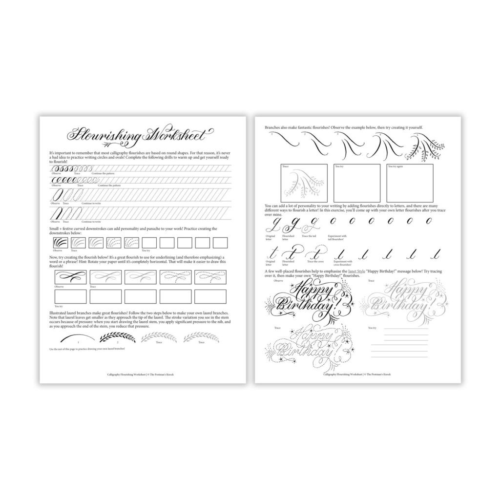 Free Calligraphy Worksheets Printable Worksheet Free Printable Calligraphy Flourishing Worksheet