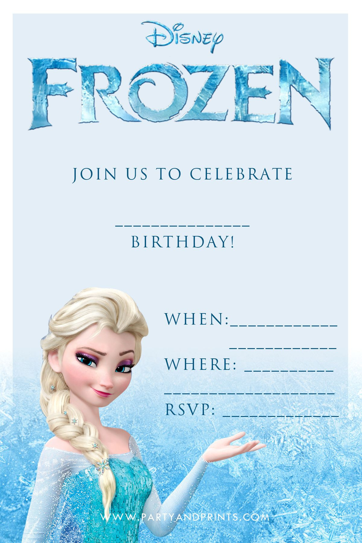 Free Frozen Invitations Printable Free Frozen Invitation