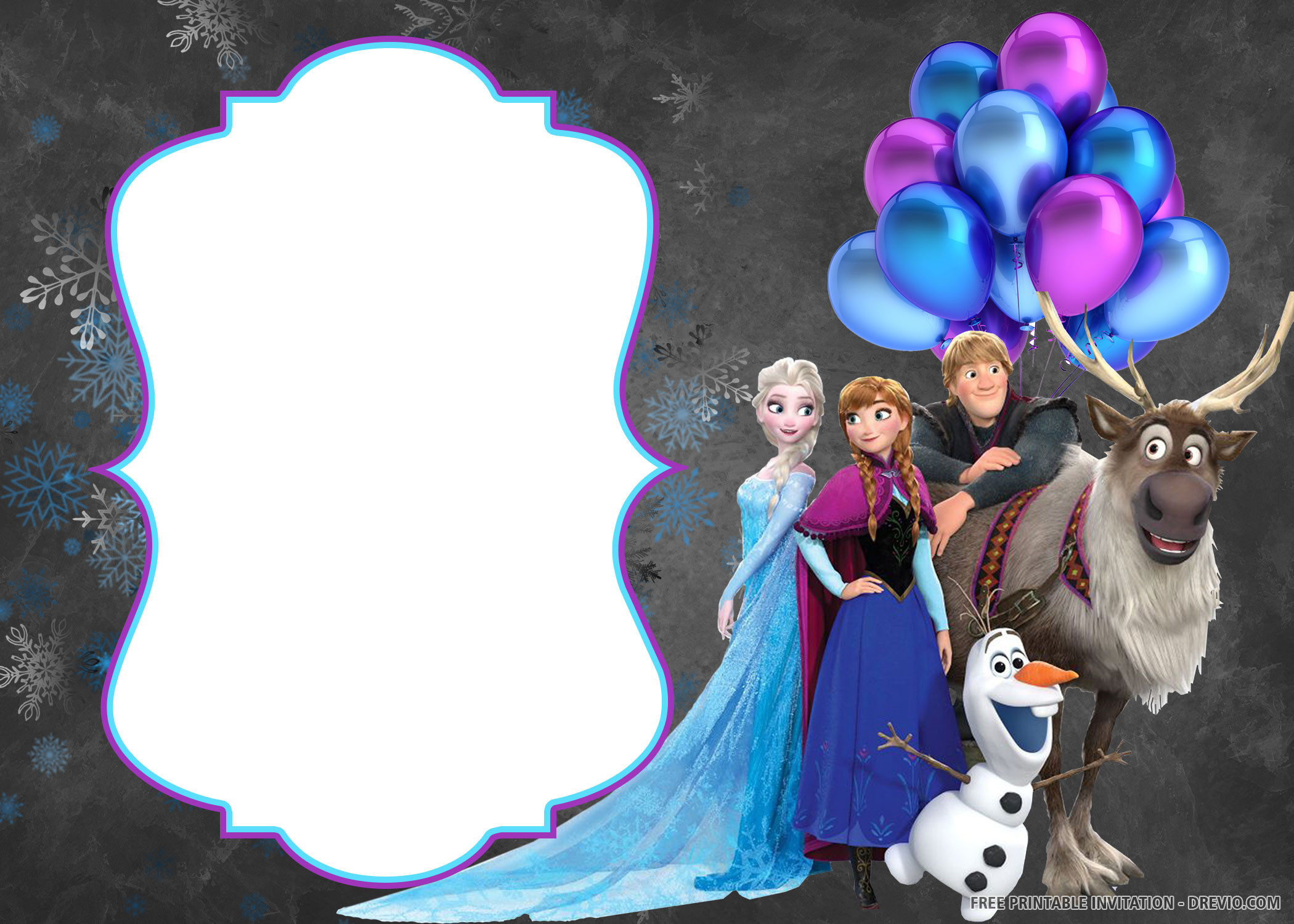 Free Frozen Invitations Printable Free Printable Disney Frozen Invitation Templates