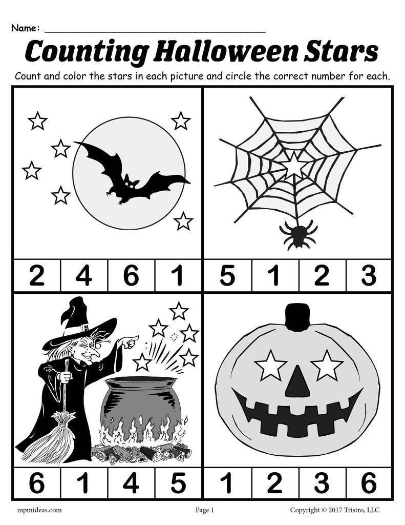 Free Kindergarten Halloween Worksheets Printable Pin On Printable Worksheet for Kindergarten