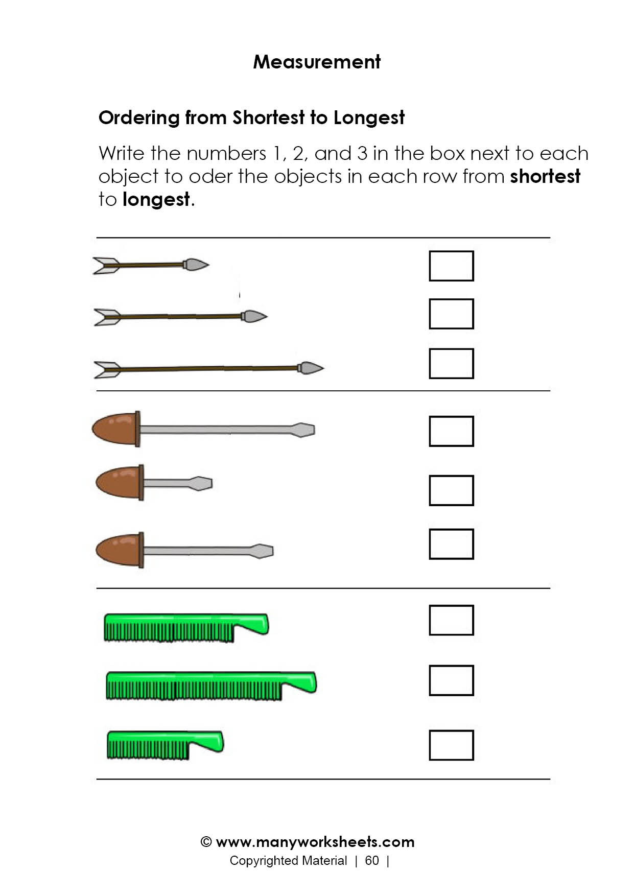 Free Measurement Worksheets Grade 1 Math Worksheet 2nd Gradet and Data Math Worksheet