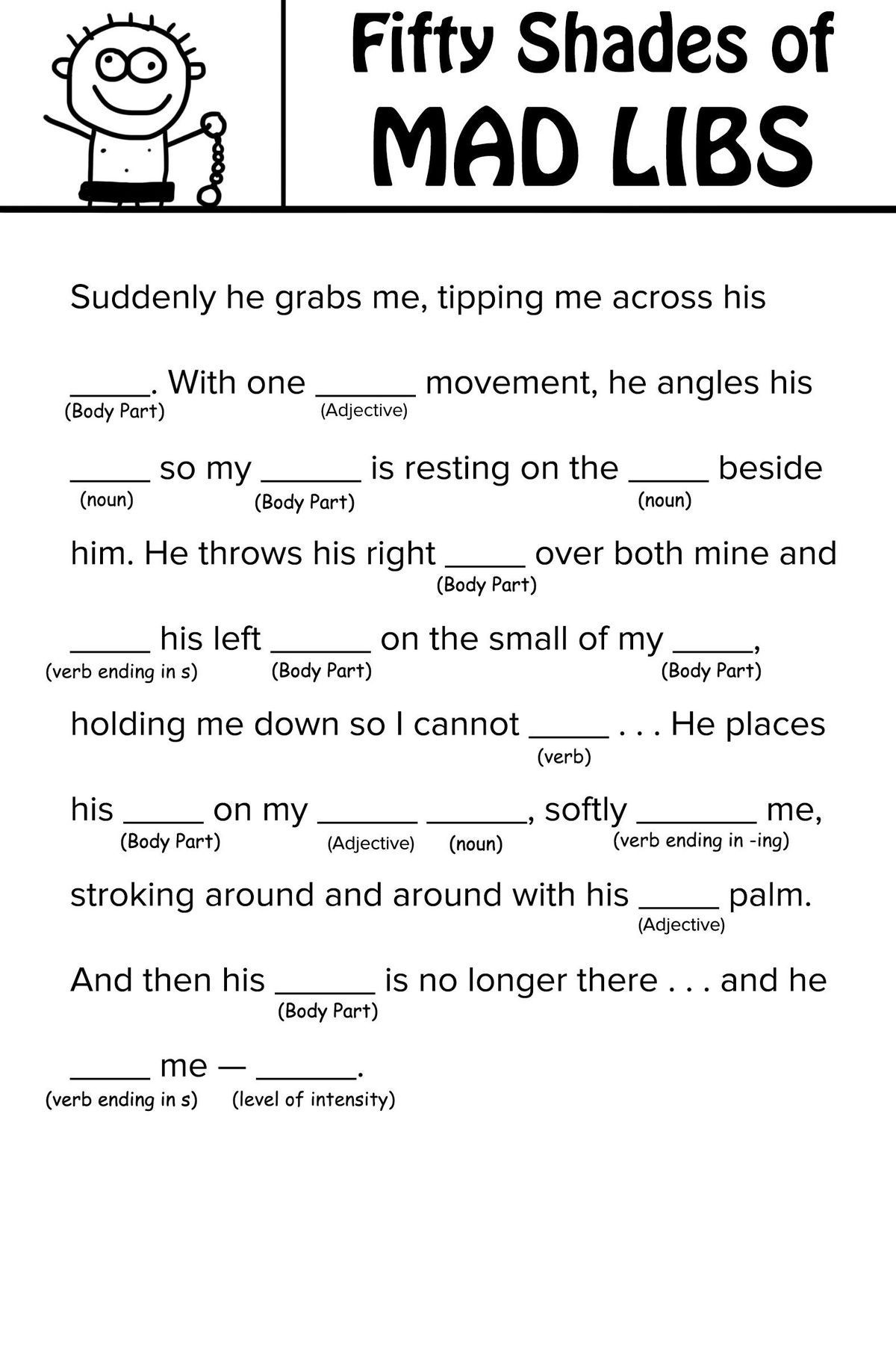 Free Printable Adjective Worksheets Mad Libs Adjective Worksheets Printable and Free for Kids