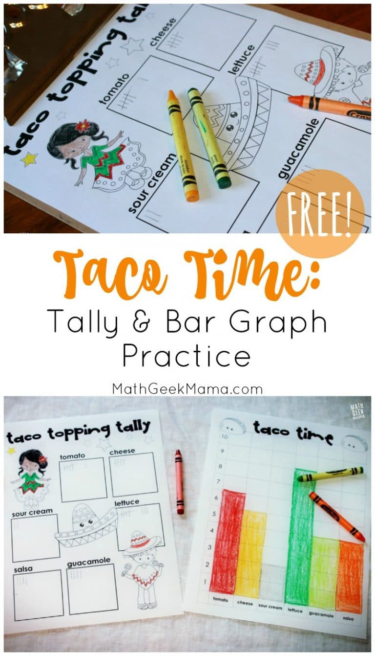 Free Printable Bar Graph Free Printable Set for Tally Bar Graph Practice Homeschool