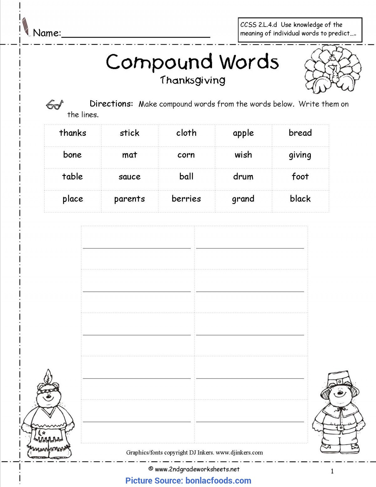 Free Printable Compound Word Worksheets Plex 2nd Grade Lesson Plans for Pound Words Worksheets