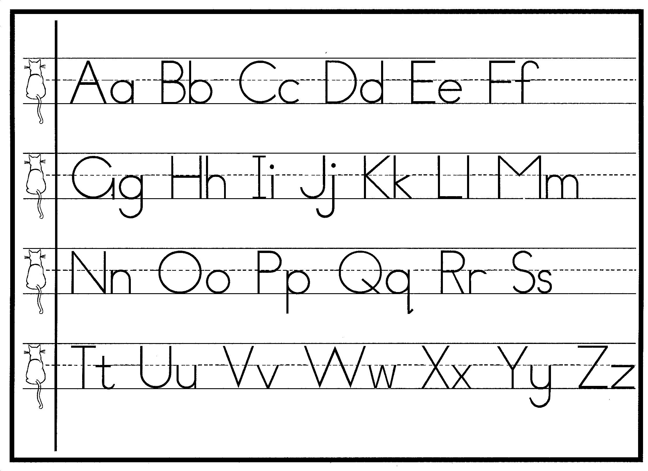 Free Printable Cursive Alphabet Chart Handwriting Letter formation Charts