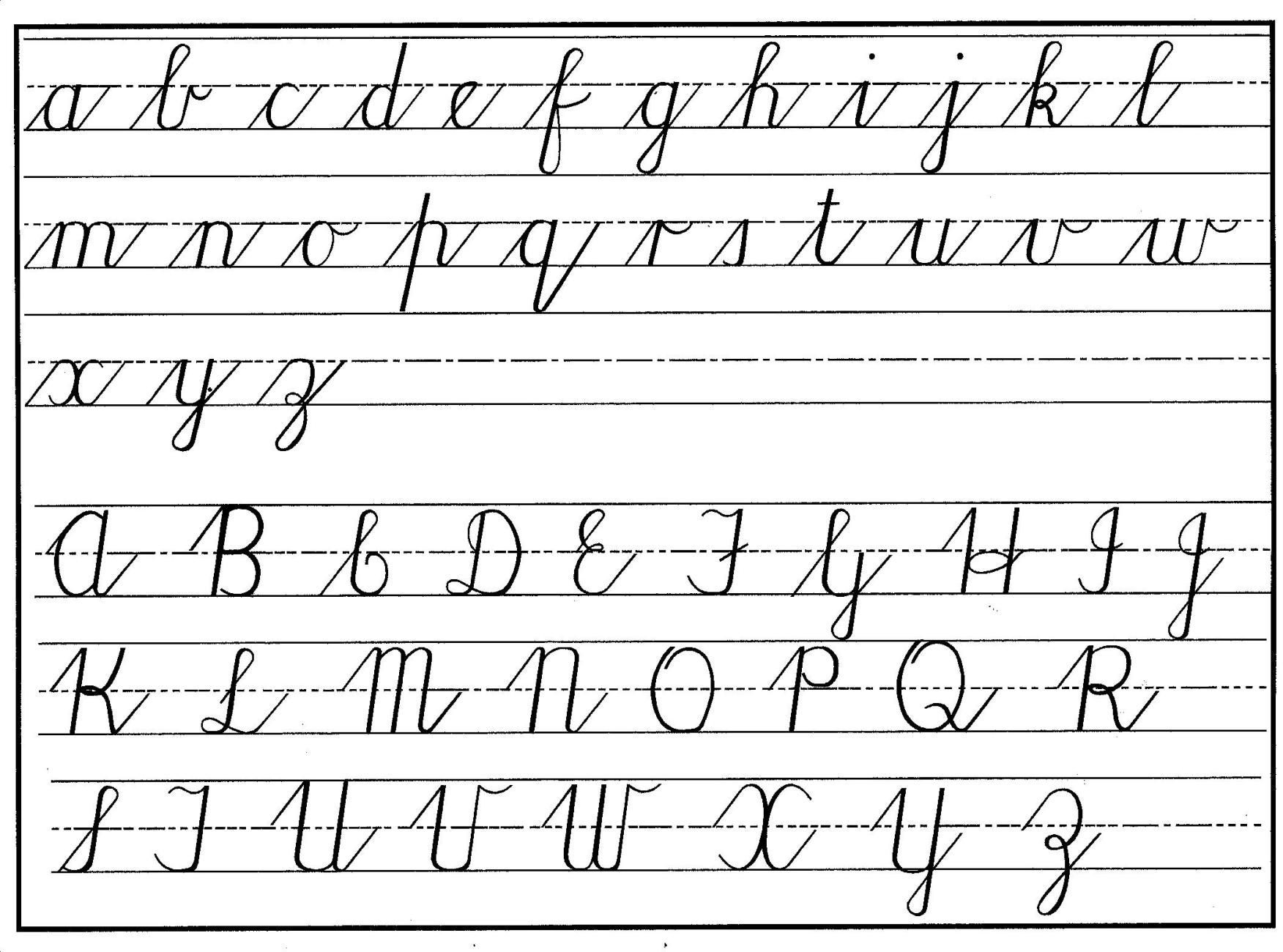 Free Printable Cursive Alphabet Chart How to Change Your Handwriting