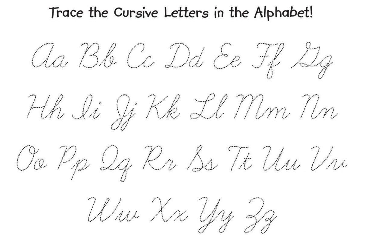 Free Printable Cursive Alphabet Chart Math Worksheet 64 Printable Cursive Alphabet Worksheets