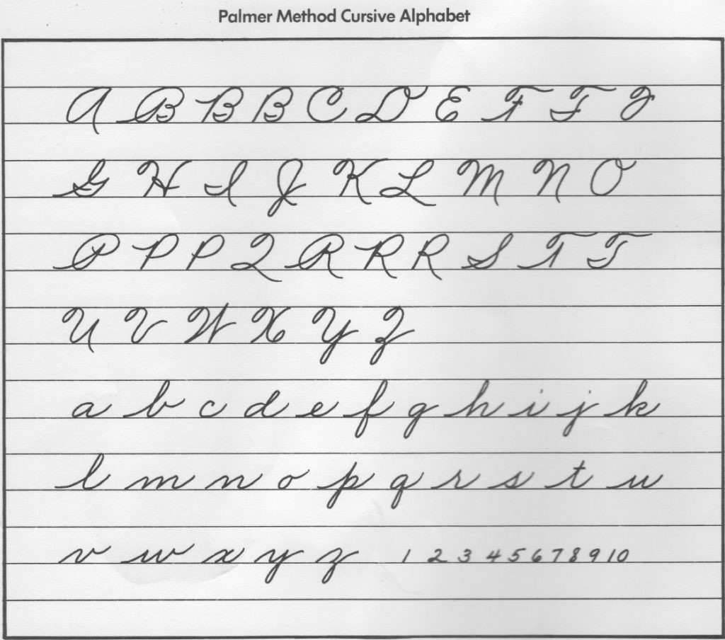 Free Printable Cursive Alphabet Chart Worksheet Cursive Handwriting Hints and Echoes Worksheet