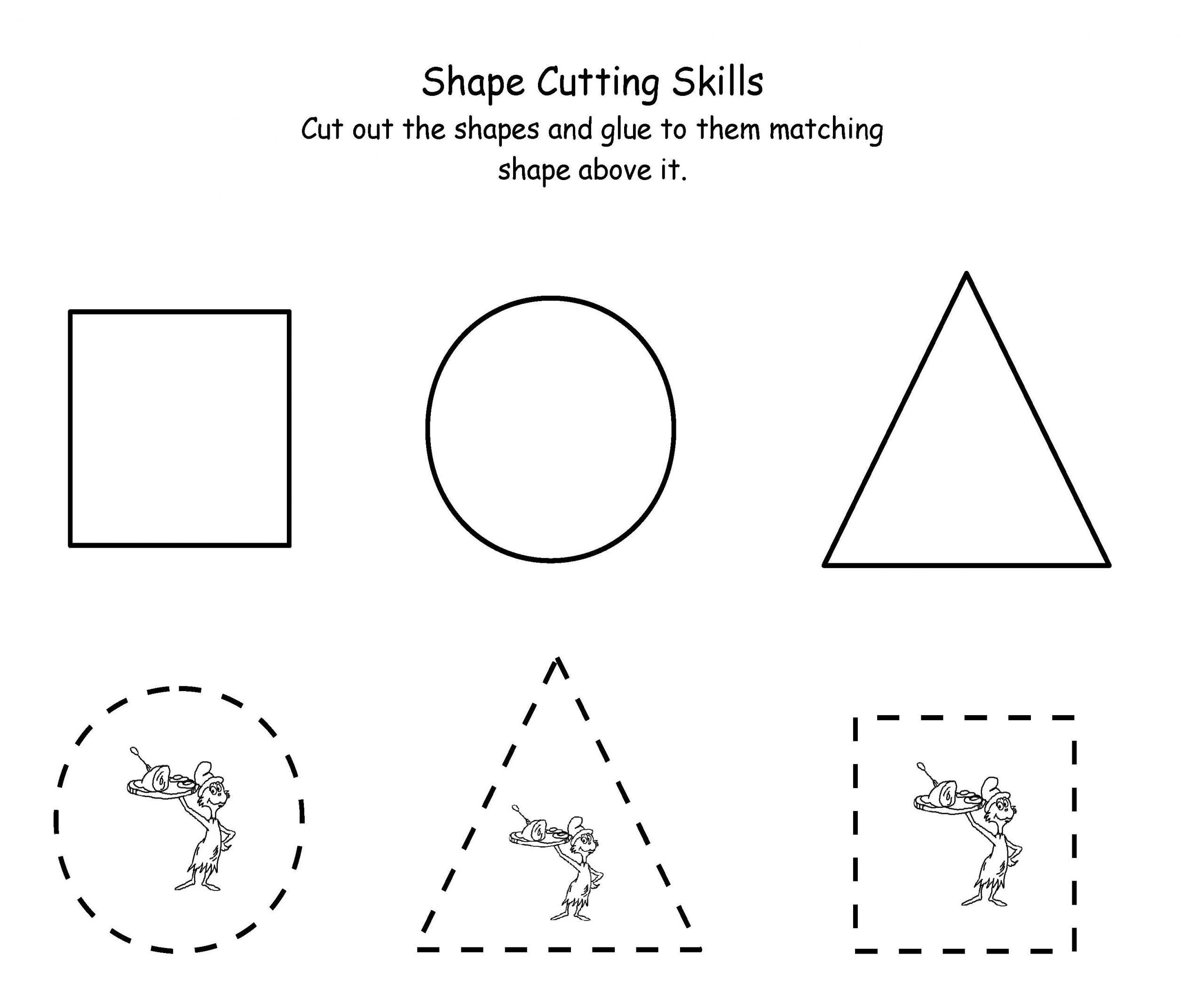 Free Printable Cutting Worksheets 7 Best Of Cutting Shapes Printables Kindergarten