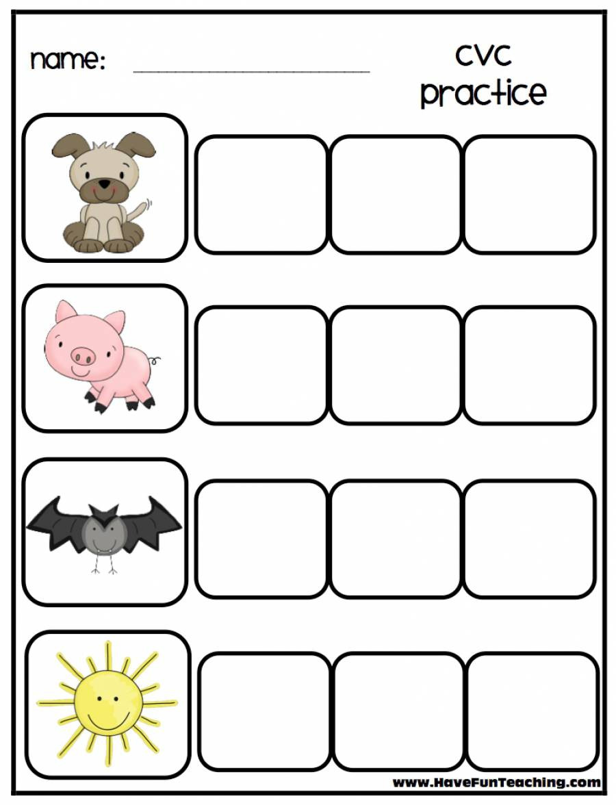 Free Printable Cvc Worksheets Cvc Worksheets Free