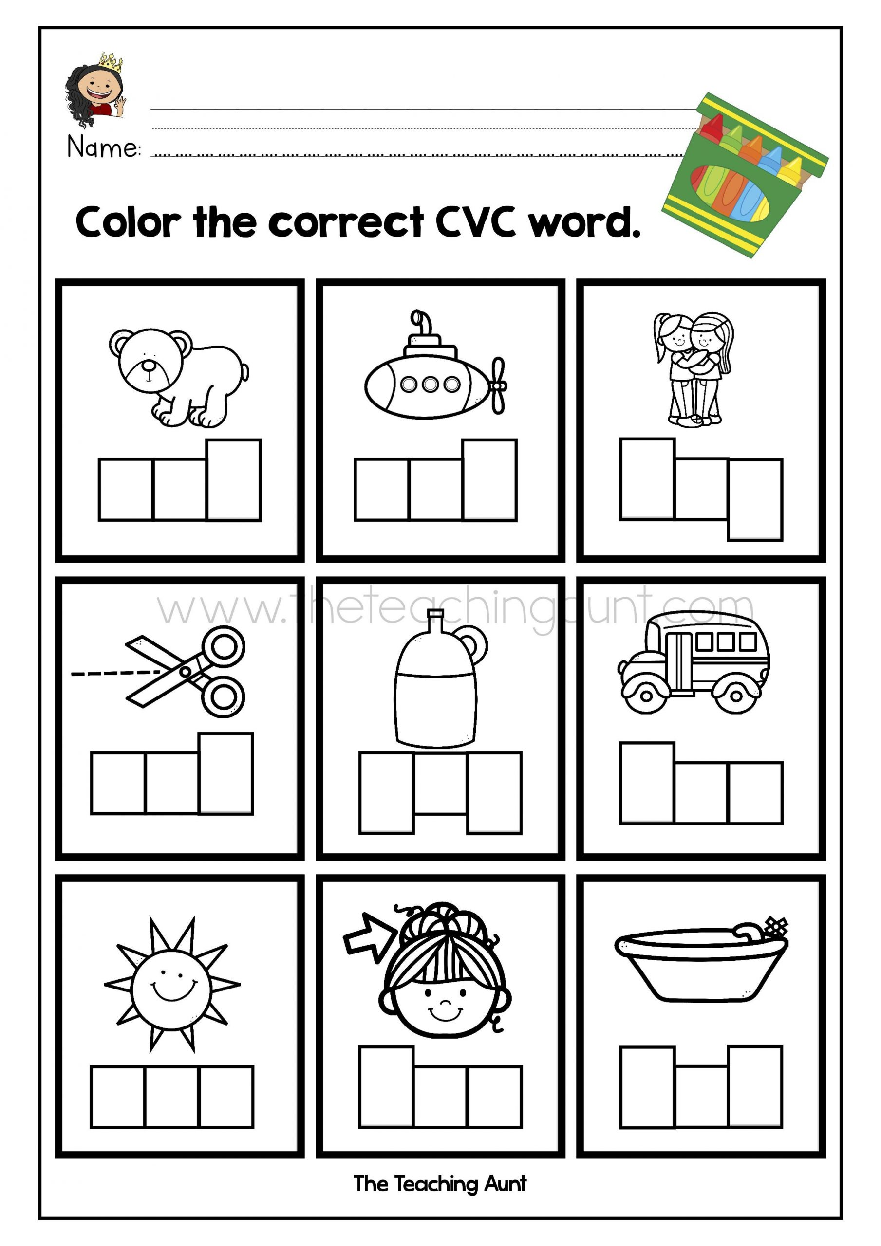 Free Printable Cvc Worksheets Pin On Free Preschool Flashcards and Worksheets
