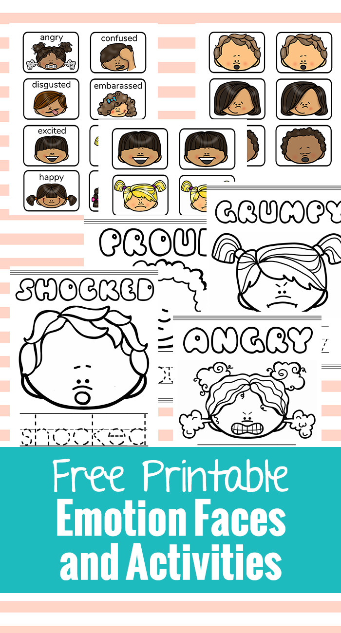 Free Printable Feelings Worksheets Free Printable Emotion Faces and Activities Natural Beach