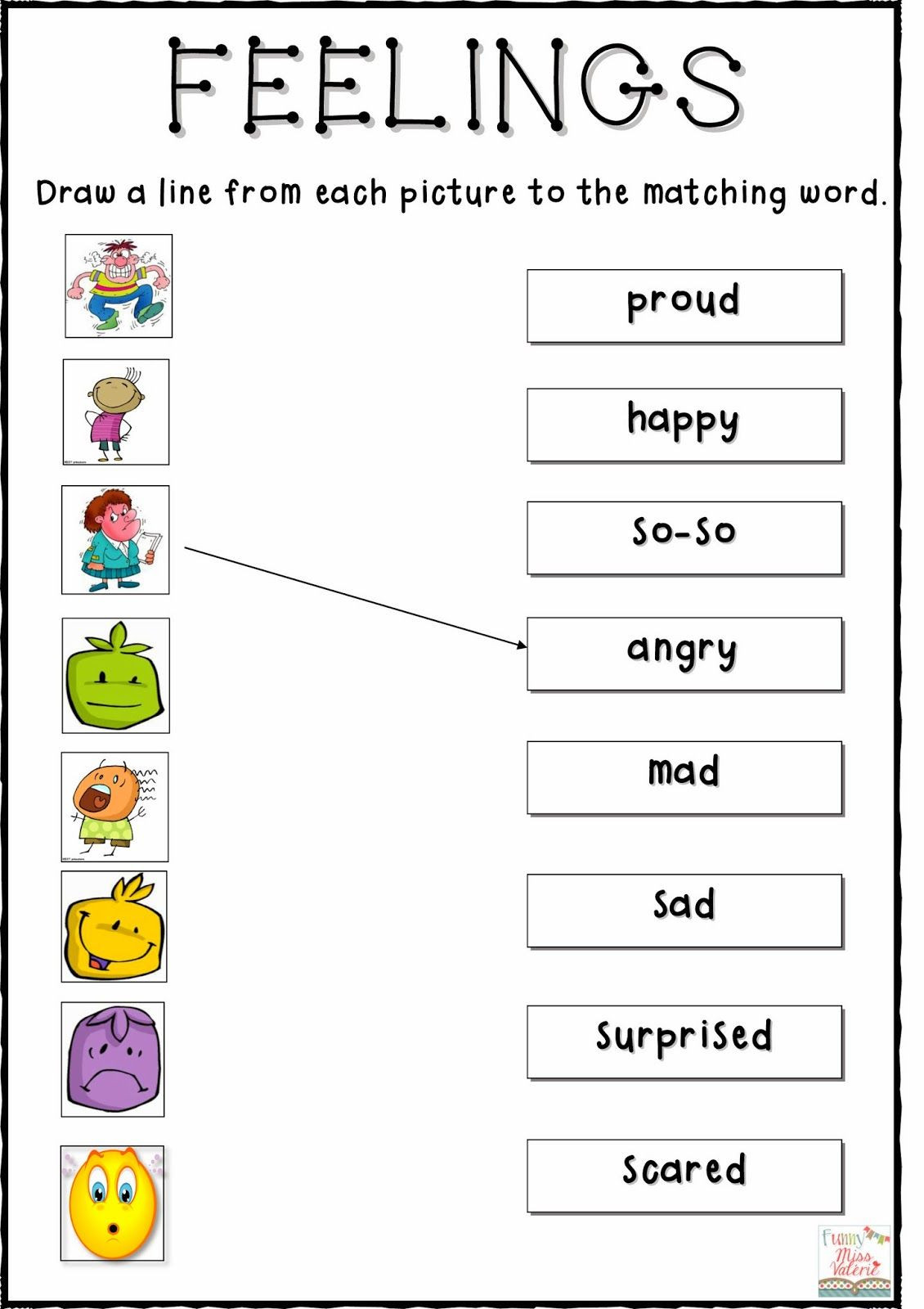 Free Printable Feelings Worksheets My Feelings Worksheets