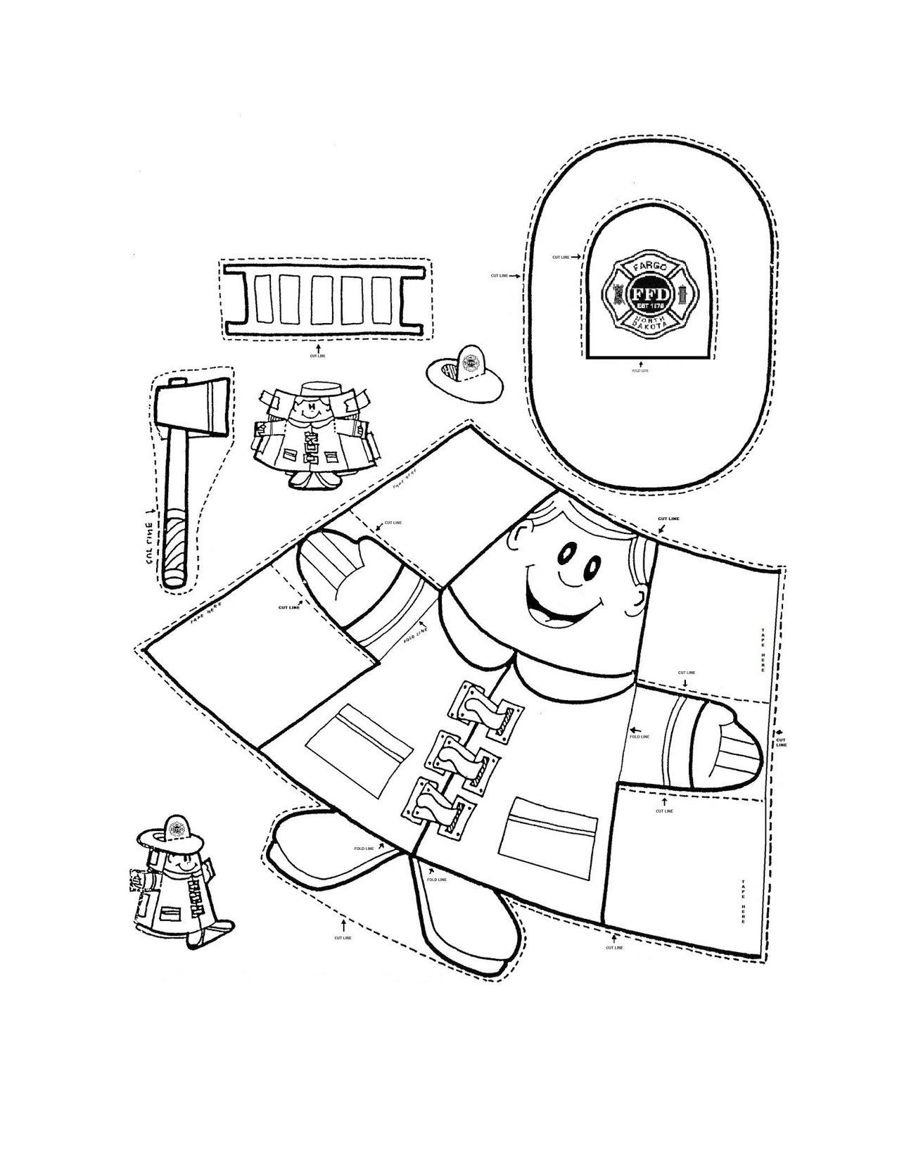 Free Printable Fire Safety Worksheets Fire Safety Fireman Crafts Munity Helper Firefighter