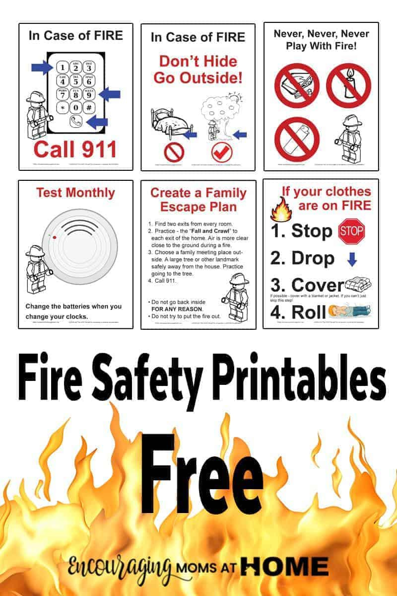 Free Printable Fire Safety Worksheets Free Fire Safety Posters with A Lego theme