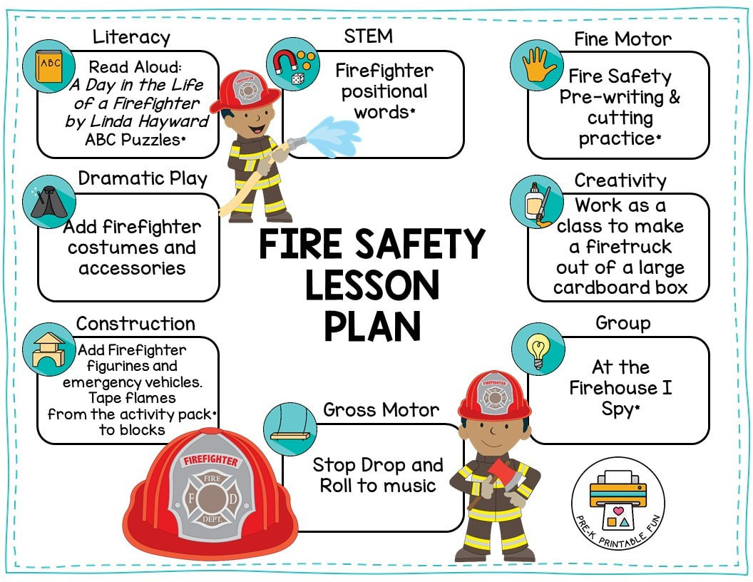Free Printable Fire Safety Worksheets Preschool Fire Safety theme Pre K Printable Fun