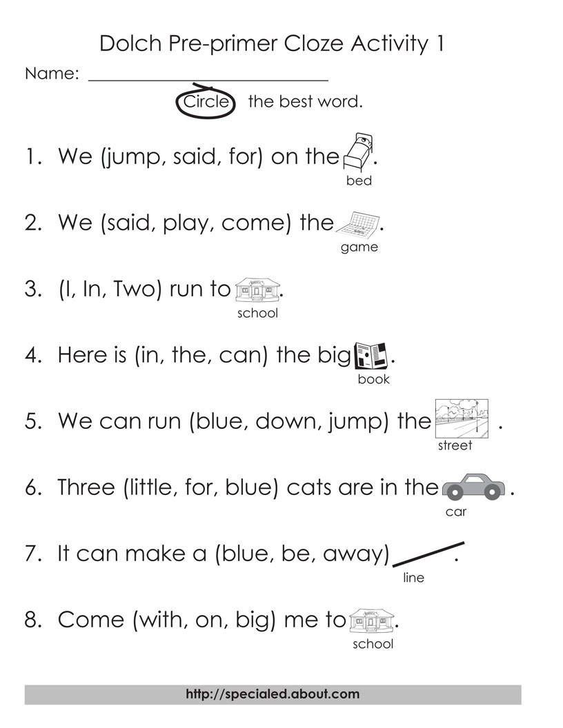 Free Printable Homophone Worksheets 5 Sets Of Worksheets for Dolch High Frequency Words